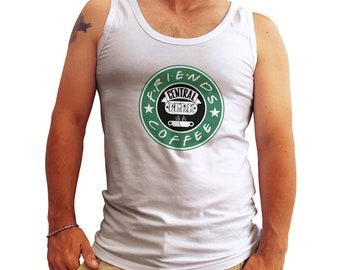 Friends Central Perk Starbucks Coffee Crazy Tank Top Shirt for Men Cool Gift