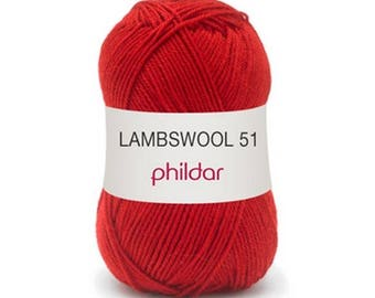 "wool LAMBSWOOL red ""Garance"""