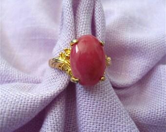 Vintage Pink Stone Ring