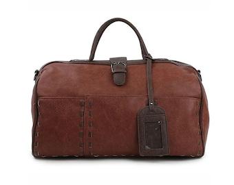 Mens Faux Leather Duffle Bag Womens Travel Tote Bag Gym Bag 313