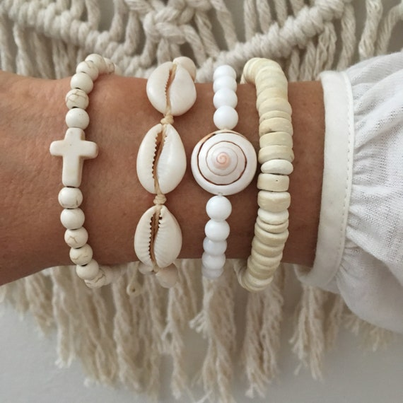 boho jewelry, beach bracelets , beachcomber gypsy mermaid