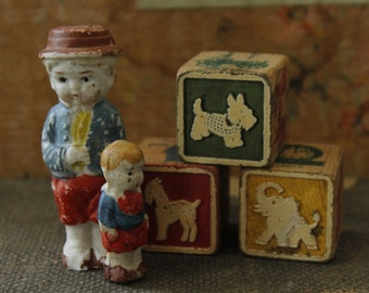 Antique Frozen Charlotte, Bisque Dolls, 1920's Small Dolls, Made in Japan, Small Penny Doll, Collectible Toys & Games