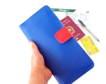 Travel wallet passport holder personalized, boarding pass wallet, travel gifts for women, graduation gift, travel document wallet travel her