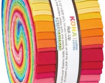 180566 Roll-up fabric bundle roll New Bright Palette Robert Kaufman