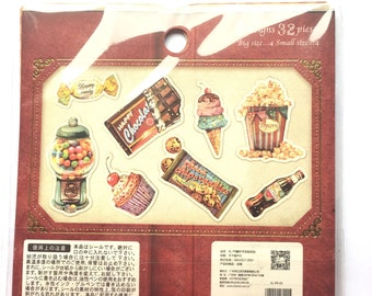 Confectionery sticker flakes