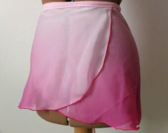 Hand shaded, dark pink, dance skirt