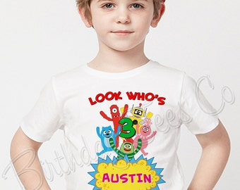 Yo Gabba Gabba Birthday Shirt Add Name & Age Yo Gabba Gabba Custom Birthday Party TShirt 01