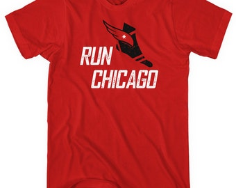 Run Chicago V3 T-shirt - Men and Unisex - XS S M L XL 2x 3x 4x - Chicago Tee, Marathon, Running - 4 Colors