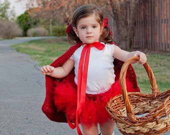 Little Red Riding Hood Costume Halloween Costume Baby Girl Costume Toddler Costume Child Costume Photography Prop