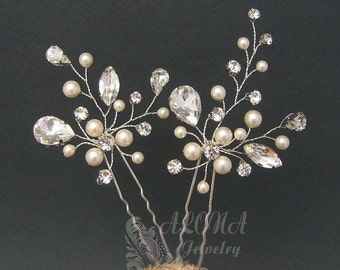 Wedding Hair Pins Sets,Bridal Hair Accessories, Gold Bridal Hair Pins, Gold Hairpins Bridal Headpieces, Wedding hair clips hairpins