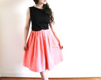 50s Skirt / 1950s Pink Full Skirt