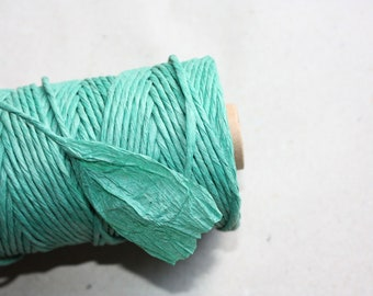 Paper Cord = 1 Spool = 110 Yards= 100 Meters- Christmas Decorations- Wedding Decoration- Macrame Cord- Gift Wrapping Cord- Kraft Paper
