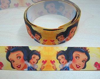 5 YDS Snow White w/ Birds Ribbon