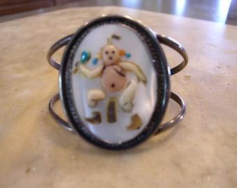 American Indian Mudman Cuff Bracelet Vintage