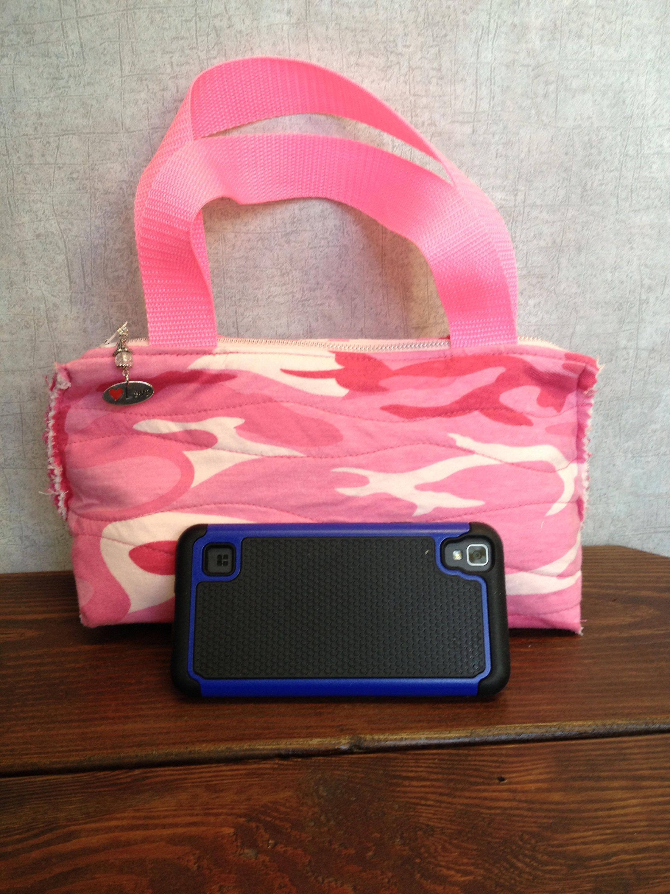 Pink Redneck Camo Cosmetic bag Make up Travel Bag purse