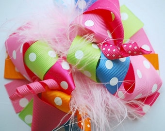 boutique FUNKY fun EVERYDAY DOTS hair bow clip