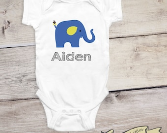 Baby Boy Shirt  Personalized Name Onesie® Gift for Newborn Baby Gender Reveal Baby Annoucement
