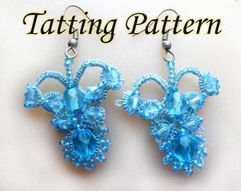 Tatted lace pattern PDF Earrings Tatting pattern  Elegant  tatting Tatted pattern Pearl tatting Tatted lace pattern Tatting lace  models