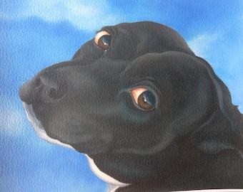 "staffordshire bull terrier painting ""Molly"""