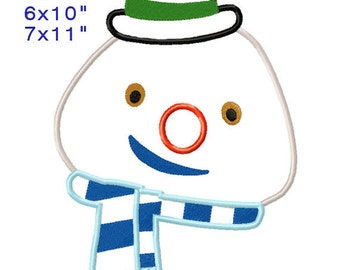 CHlLLY Snowman Mc Stufflns Machine Embroidery Applique Design Digital Pattern 4x4 5x7 6x10 7x11 INSTANT DOWNLOAD