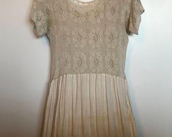 Vintage 1920's Ethereal Crochet Dress