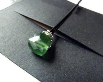 Russische Serpentine Cube Bobby Pin - 8 mm grün Stein - Edelstein Bobby Pin