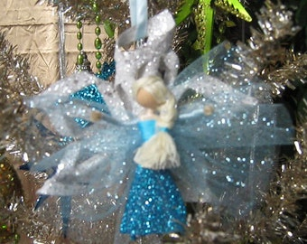 Frozen Inspired Elsa Unique Holiday Christmas Ornament Miniature Doll
