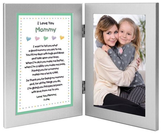 Mommy Gift Personalized From Sons or Daughters Sweet Poem in