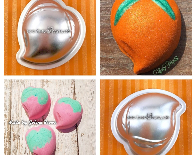 "ASIAN PEACH Bath Bomb Mold, Metal, 2 3/4"", Two Wild Hares"