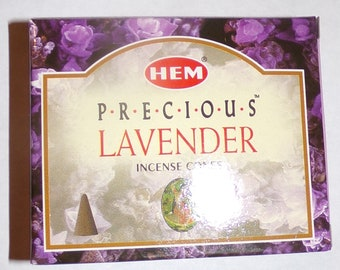 Lavender scented incense cones from India