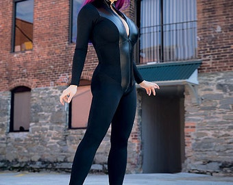 McCall's 7217 Pattern Yaya Han Zippered Body Suit Cat Suit CatWoman, Black Cat, Black Widow-Super Herione Plus Size
