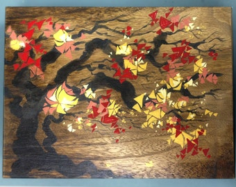 "Tree of Joy - 8.5""x11""x2"" Hand Painted Wooden Box"