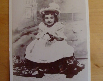 Cabinet Photo Girl of Lancaster , Pennsylvania  Feathered Hat - Rose