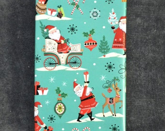 Vintage Style Santa Claus and Reindeer Christmas Wrapping Paper, 2 x 10 Feet