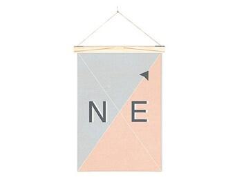 Linen Wall Art Banner Nautical NE