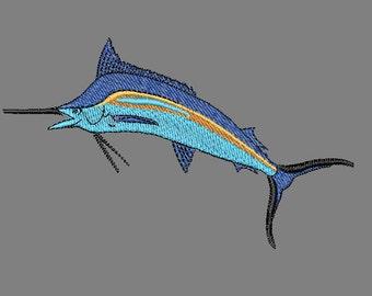 Marlin Fish machine Embroidery design file pattern fishing ocean water
