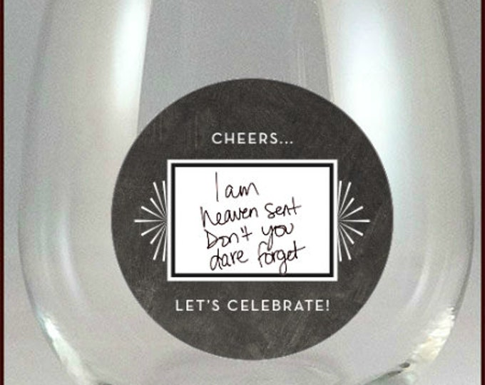 Wine Glass Decals - Write whatever you like on them - Glass Not Included, 10 pack