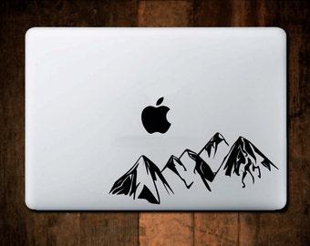 Mountain Range Decal, Laptop Decal. Macbook decal, Macbook sticker, Macbook Sticker, Laptop Sticker