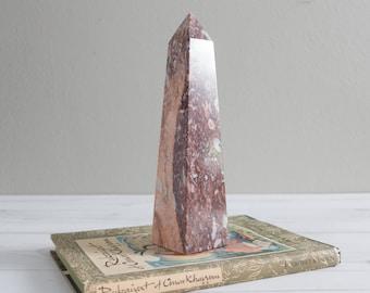 Vintage Pink Marble Obelisk