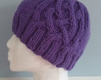 Lavender Saxon Braid Hat