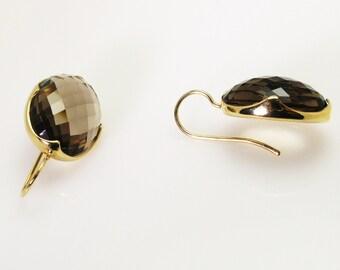 Smokey Quartz Earrings.