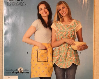 Simplicty 3670, Pattern, Easy Apron's, 1 Yard Apron, One Size, Uncut
