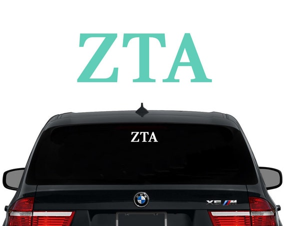 Zta zeta tau alpha greek letters sorority decal laptop sticker