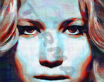 Jennifer Lawrence Art Print - Katniss Oil Painting Poster  LFF0083