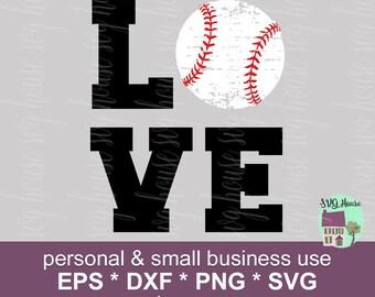 Love Baseball Svg, Love Baseball, Baseball Svg File, Baseball Love Svg, Baseball Mom Svg, Grunge Baseball Cut File, Baseball Love Vector