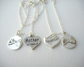 2 Pinky Promise, Mother Daughter- Best Friend Necklaces/ Mother and Daughter, Mother Daughter Necklace, Mother Daughter Gift, Mother's Day