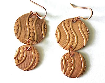 Walk Along the River Earrings Tsalagi Cherokee Made