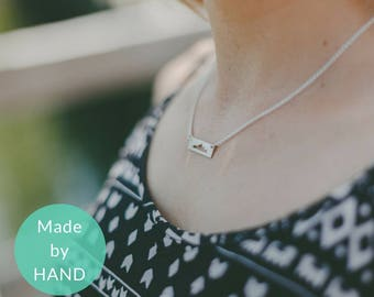 Outdoors Gift, Mountain Necklace, Outdoor Necklace, Girlfriend Gift, Mountain Range Jewelry, Gift for Her, Adventure Jewelry, Hiking Jewelry
