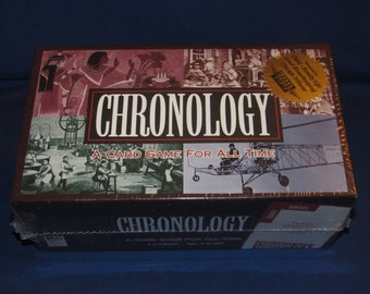 CHRONOLOGY 1997 NIB A Card Game for All Time Great American Puzzle Factory