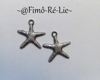 Charm 20 mm x 15 mm starfish